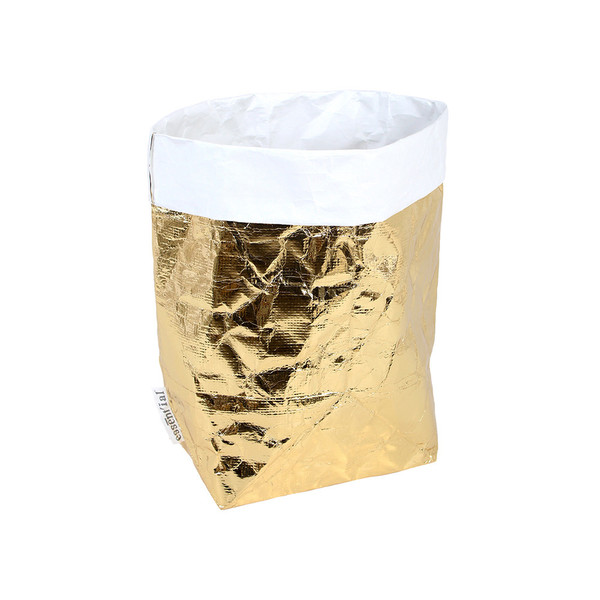 Coming Soon Metallic Gold Laundry Bag