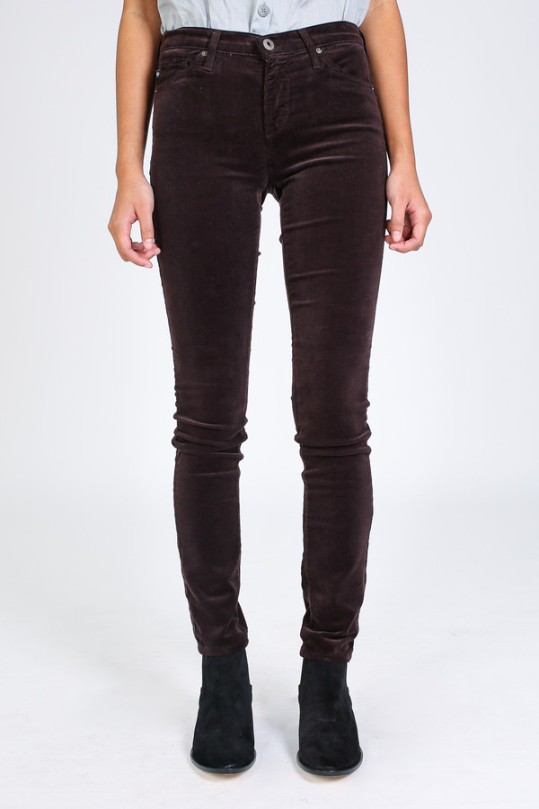 AG Jeans Prima cord in bordeaux brown