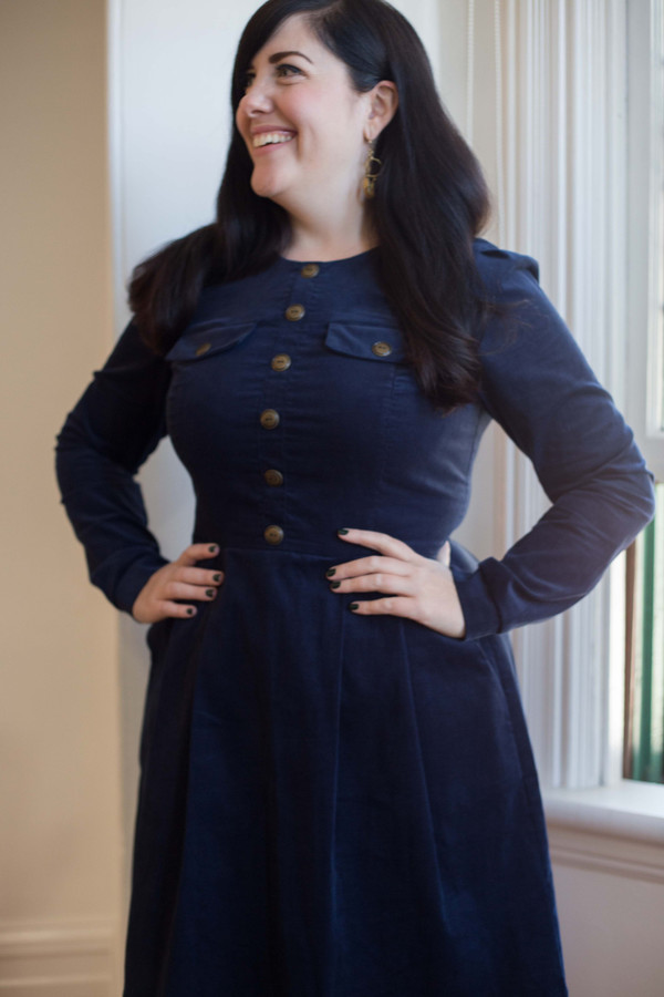Birds of North America Jacobin Dress (Navy)