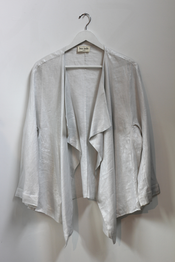 Hey Jude Metallic Linen Cardigan