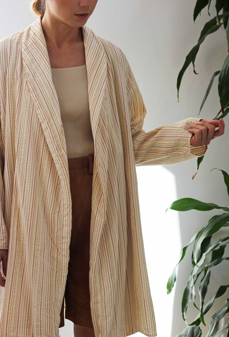 Hey Jude Texture Striped Robe