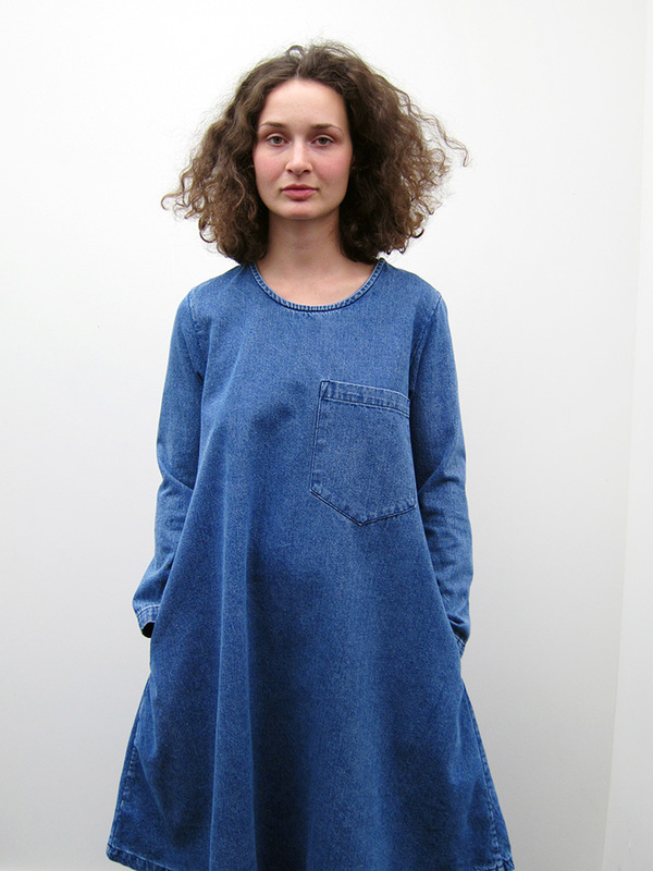69 Basic Dress - Medium Denim