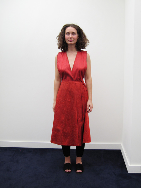 Alexa Stark Wrap Dress, Red Silk