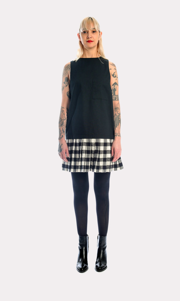 Kurt Lyle Princeton Jumper in Black + Check