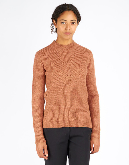 Storm & Marie Gabby Knit Sweater Gingerbread Melange