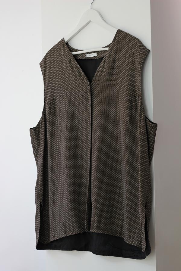 Hey Jude Vintage Geometric Silk Vest