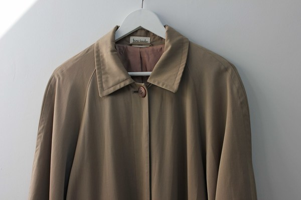 Hey Jude Vintage Taupe Wool Trench