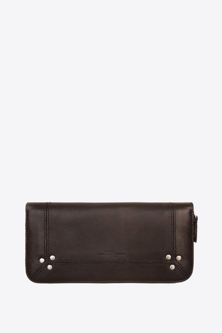 Jerome Dreyfuss Malcolm zip wallet black/silver