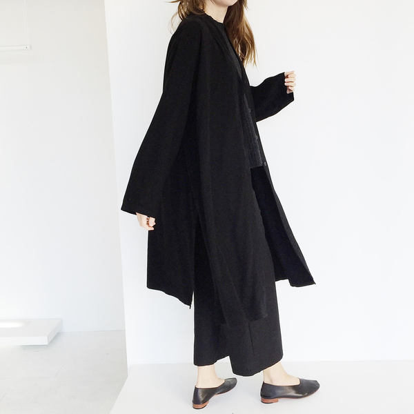 Johan Vintage Black Oversized Duster