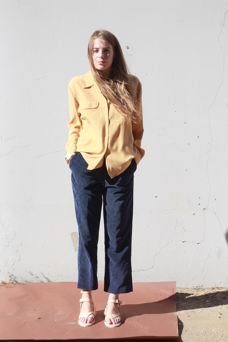 O-M Vintage | Blue Corduroy Pants, 6P