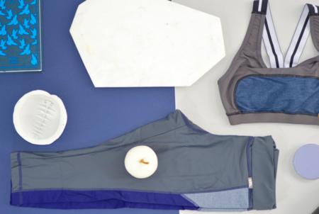 VPL X-Curvate Capri: Charcoal x Blue Denim