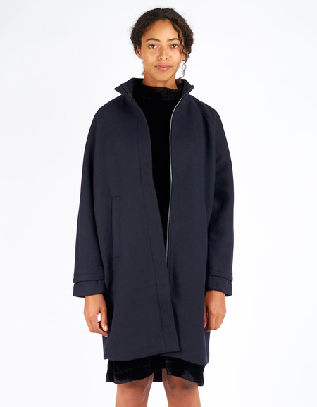 Just Female Blend Coat Dark Blue