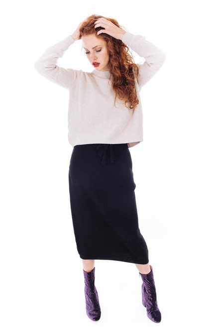 Kowtow Freeway Skirt (Black)