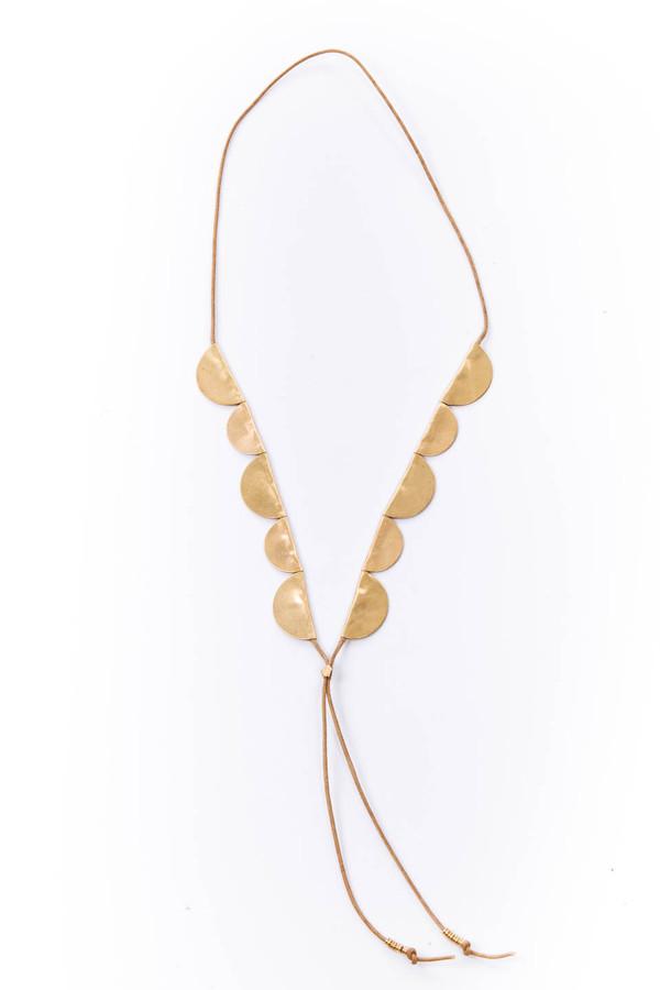 SAINT CLAIR Scout Necklace (Tan)