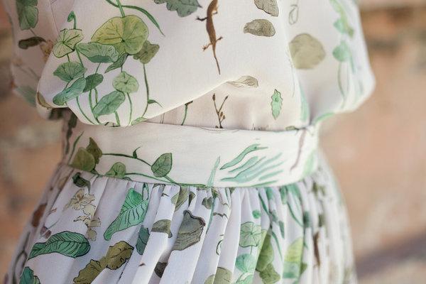Plante Printed Silk Tank Ivy