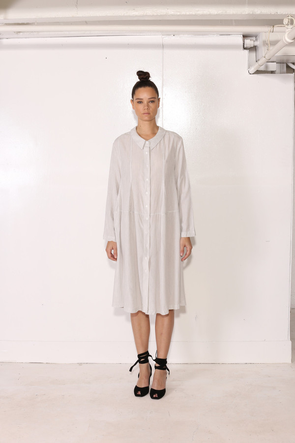 Intentionally Blank FESCUE DRESS Grey Stripe