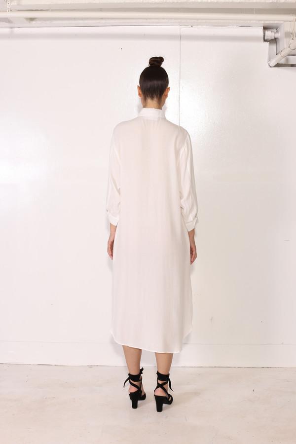 Intentionally Blank LANDIS SHIRT DRESS White