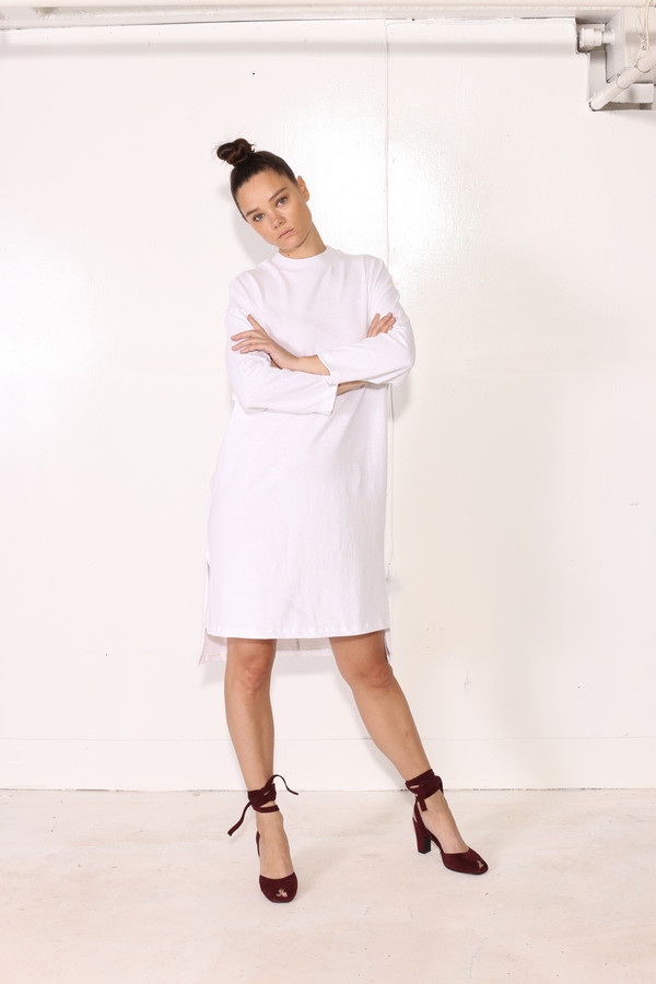 Intentionally Blank MILLET DRESS White