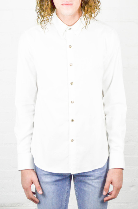 Men's 18 Waits Dylan Shirt White Flannel