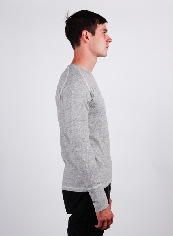 Men's Homespun Raglan Thermal Mid Grey