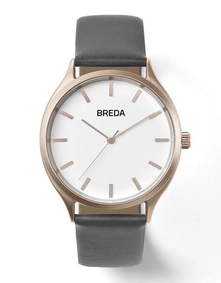Breda Asper Watch Rose Gold Grey