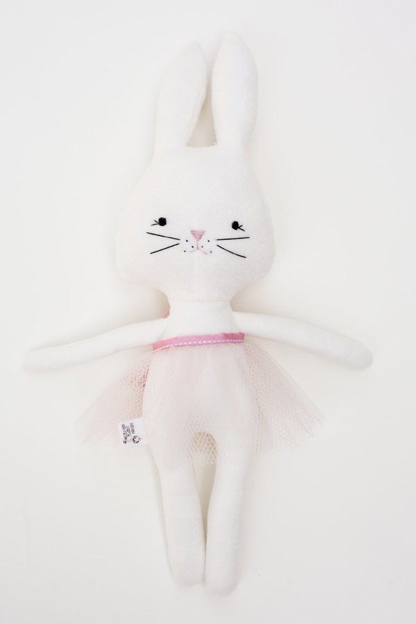 Polka-Dot Peanut Parade pink tutu bunny