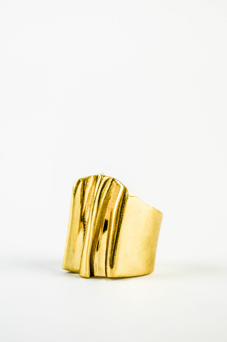 K/ller Pleat Brass Ring