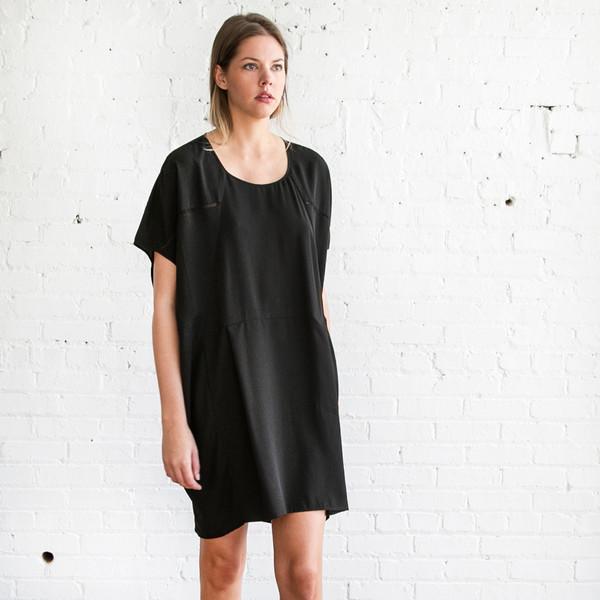 Gary Graham Cocoon Dress Black