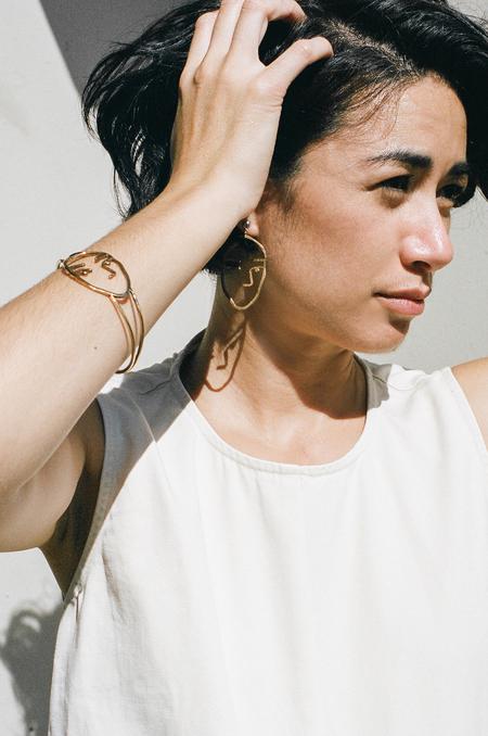 Open House Face Bracelet - bronze