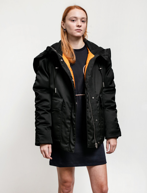Acne Studios Womens Asa Tech Coat