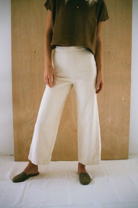 Han Starnes Denim Pants - Cream
