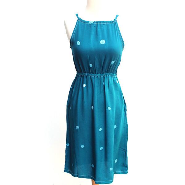 Della Teal Racerback Dress