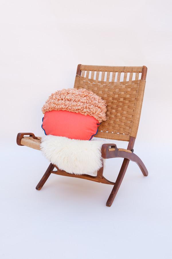 Lykke Wullf x Farron: Orange Woven Pillow