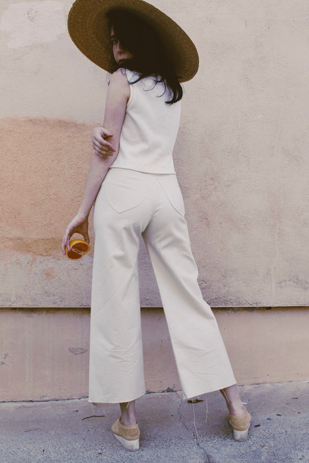 Lykke Wullf Sandy Pant Cream Organic Canvas