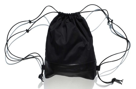 AW By Andrea Wong DRAWSTRING BACKPACK   BLACK