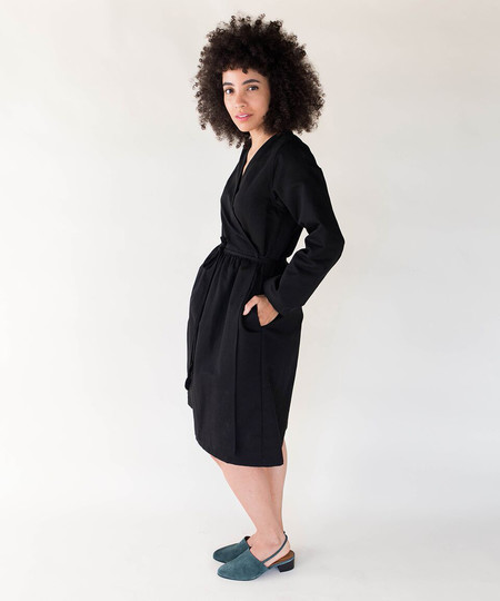 Wrk-Shp Black Wrap Dress