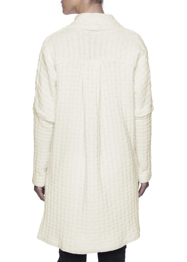 Vincetta Ivory Wrap Front Sweater
