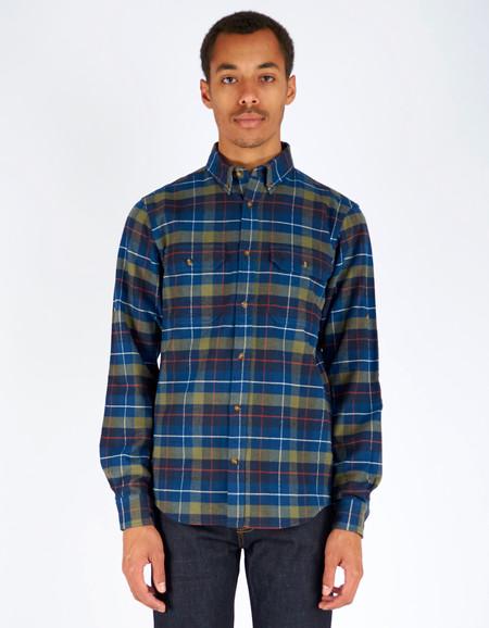 Men's Fjallraven Singi Heavy Flannel Shirt Navy