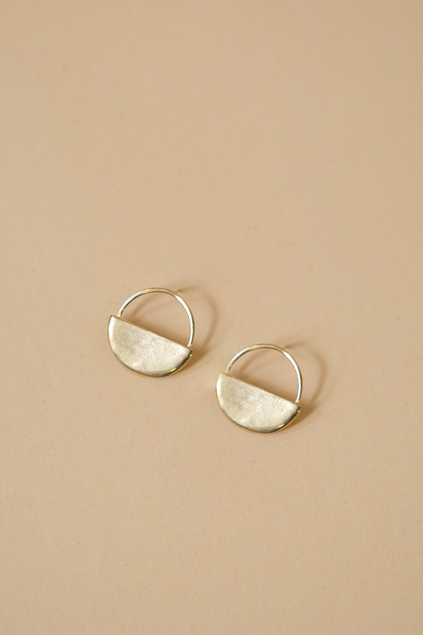 Seaworthy Sol Post Earrings / Brass