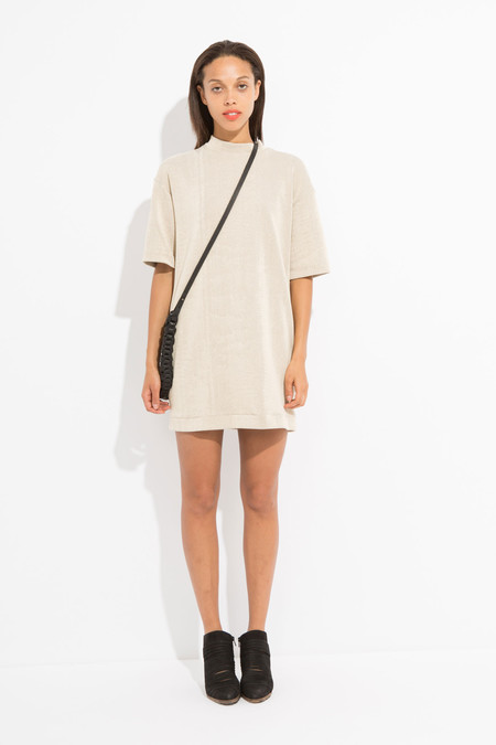 Enda Owen Short T-Shirt Dress - Tan