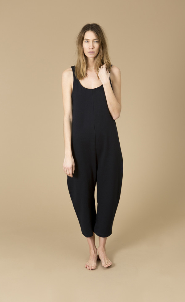 Ilana Kohn Gary Jumpsuit, Navy, Cotton French Terry