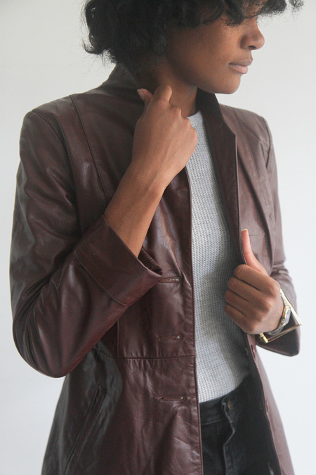 The Shudio Vintage Oxblood Leather Jacket