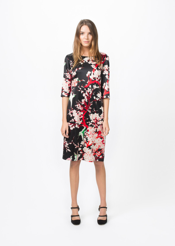 Laura Urbinati Silk Boatneck Dress