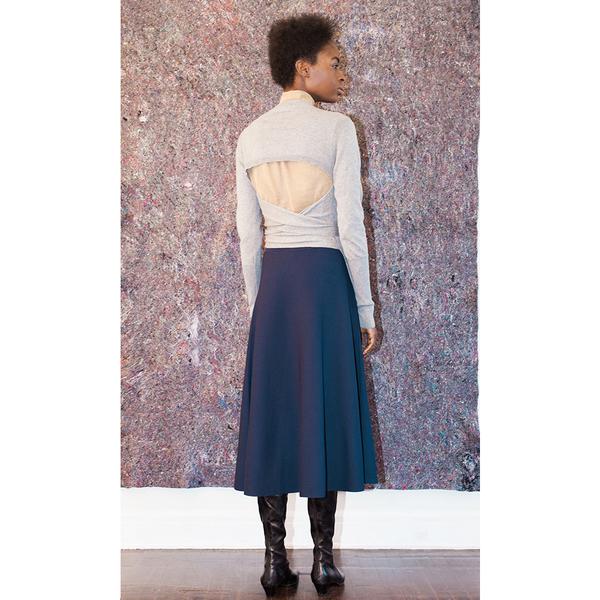 Pari Desai Wrap Sweater - Heather Grey