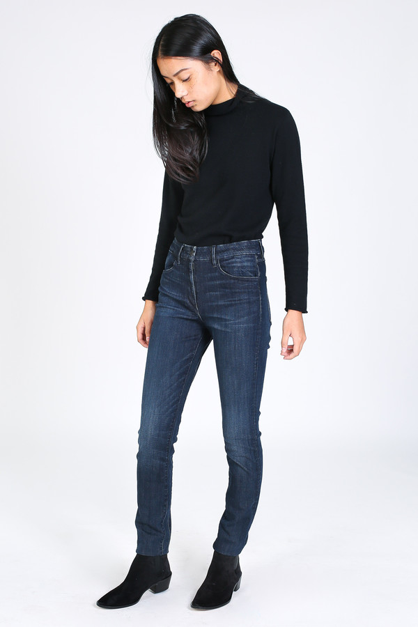 3x1 High rise channel seam skinny jean in strike