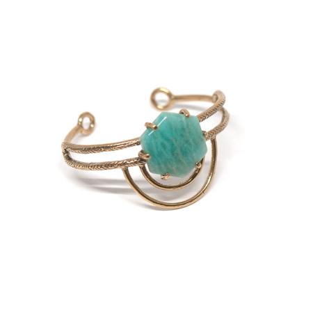 Laurel Hill Jewelry Dreamweaver Cuff // Amazonite