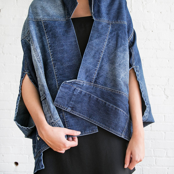 Gary Graham Cocoon Vest Denim