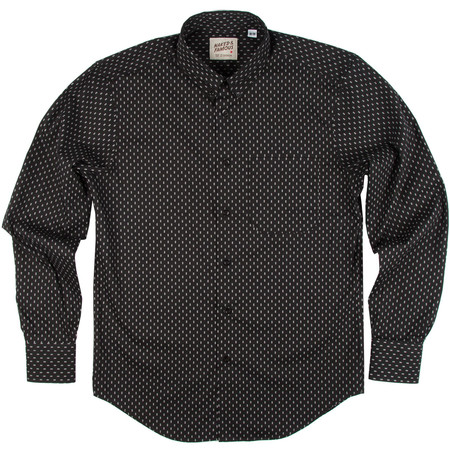 Men's Naked & Famous DOUBLE DIAMOND BLACK PRINTED SHIRT