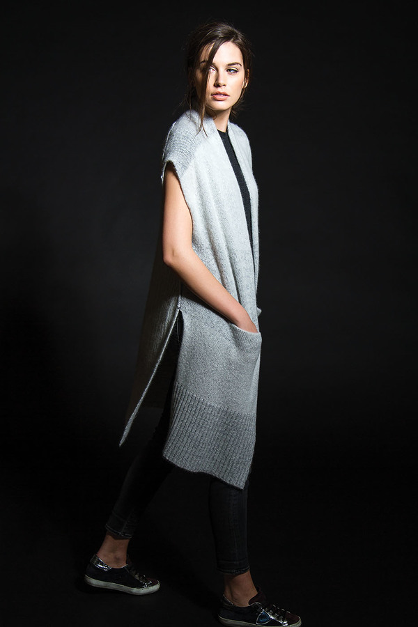 Paychi Guh Open Poncho Mist
