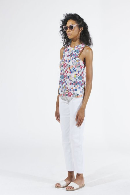 Carleen Square Arm Tank - Quilt Print